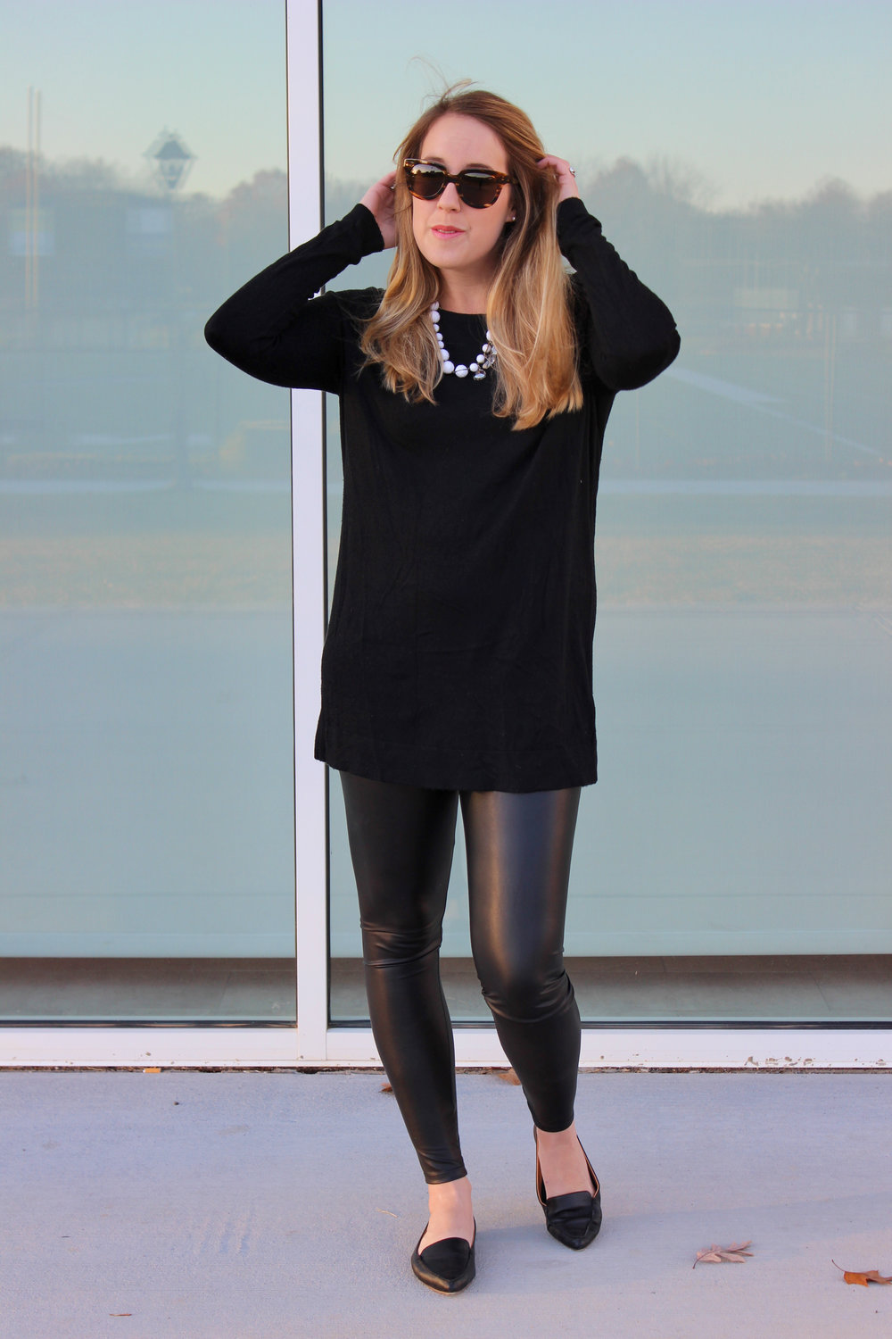 Simple and Chic in All Black for the Holidays