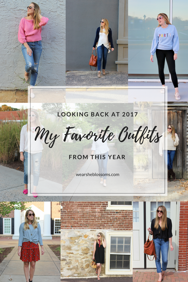 My Favorite Outfits of 2017 on Wear She Blossoms