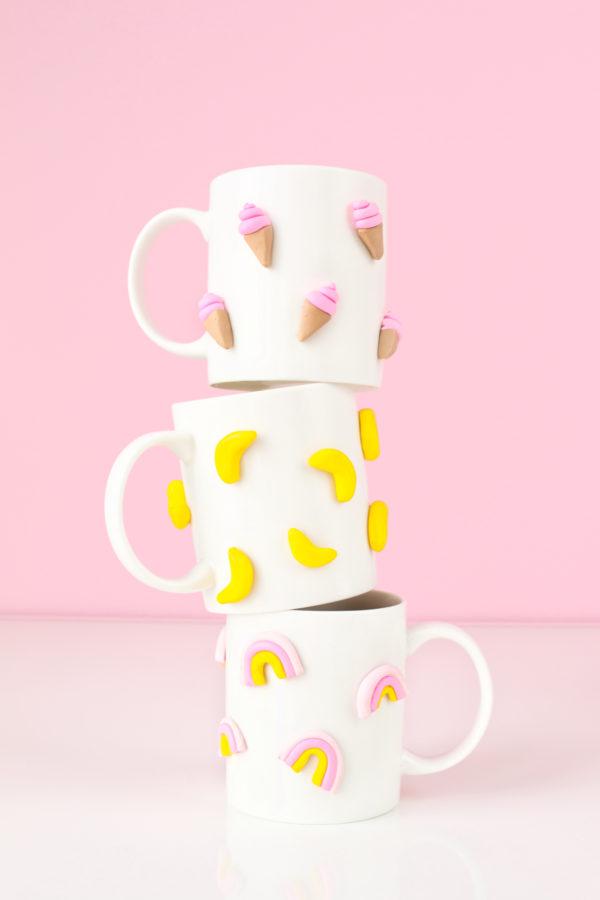 Studio DIY graphic clay mug