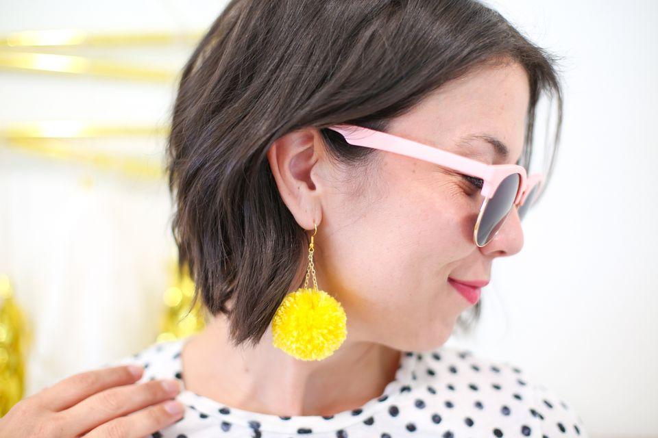 Lovely Indeed pom pom earrings