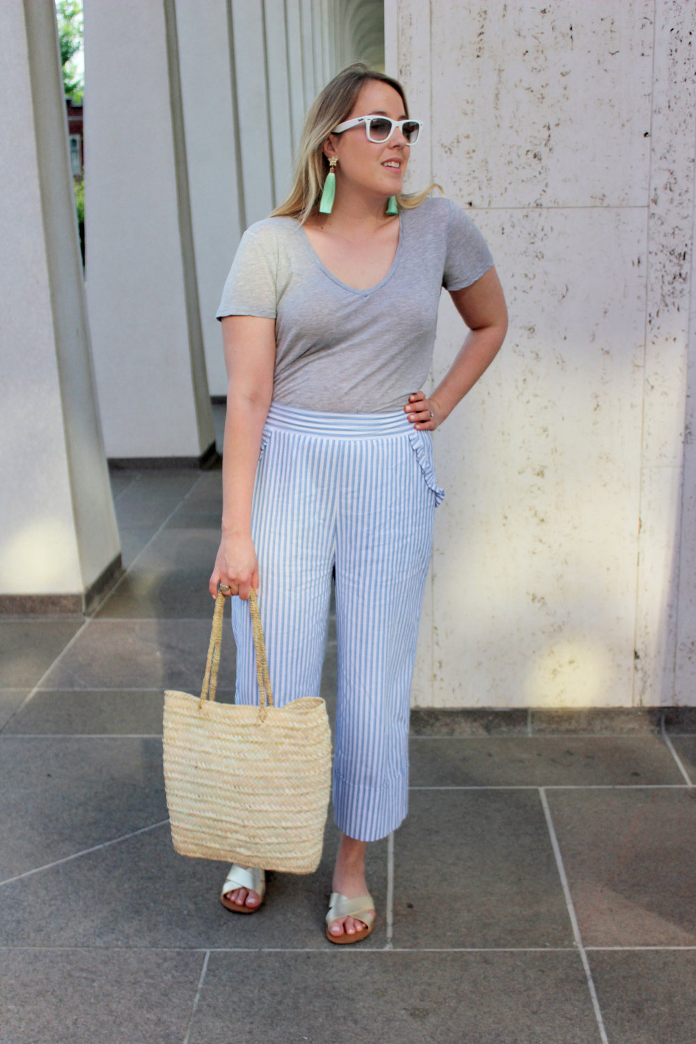 Why Everyone's Wearing Wide Leg Cropped Pants This Summer - wear she blossoms