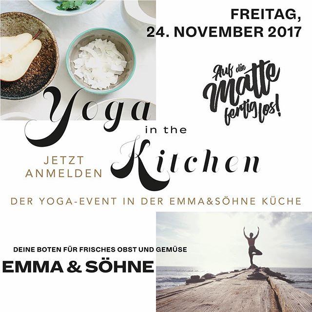 Am 24. November findet unser 2. Yoga-Event statt. Dieses mal in der Emma&Söhne Küche an der Paradiesstrasse 10a in St.Gallen! Meldet euch jetzt an, die Plätze sind begrenzt! Nach einer Stunde Yoga geniesst ihr das in der Showküche zubereitete Rezept des Monats und erfährt mehr über das coole Konzept von Emma&Söhne! Link zum Anmelden findet ihr in der Bio, wir freuen uns auf euch! Petra&Monica