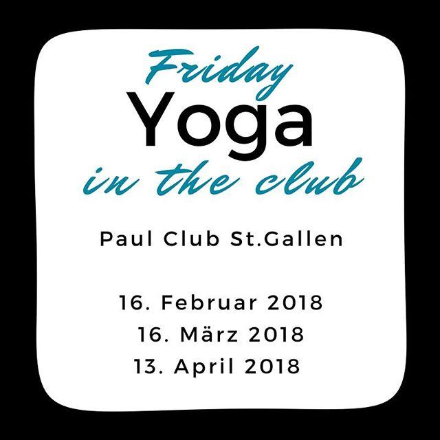 Yoga an aussergewöhnlichen Orten! Bevor du freitags feiern gehst, beende die nächsten Woche mit einer Yoga-Session in Kerzenlicht und mit Live-DJ! Sei dabei und melde dich heute noch an, die Plätze sind begrenzt.  16. Februar 2018 16. März 2018 13. April 2018 jeweils 19.00 Uhr im Paul Club in St.Gallen Anmeldung im Link in der Bio!  #aufdiemattefertiglosyoga #mattefertiglos #fridayyogaintheclub