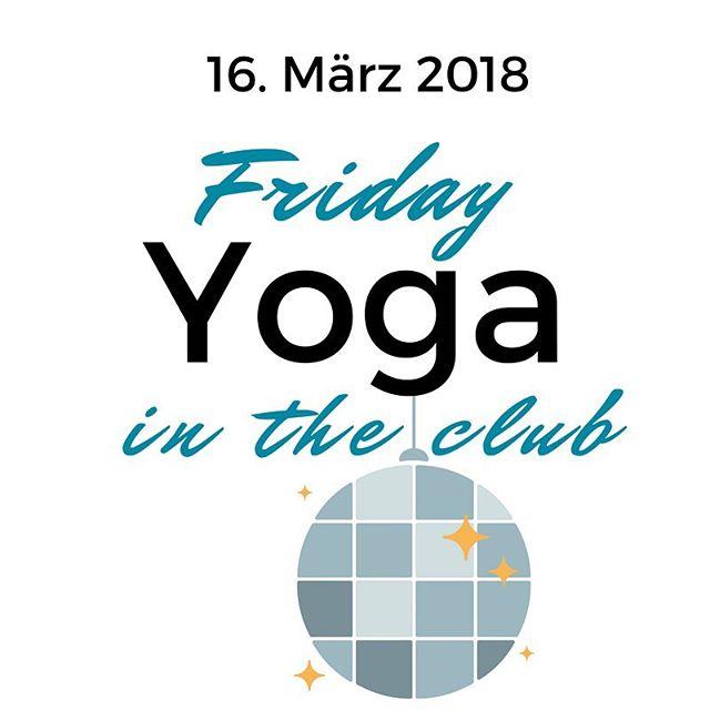 Yoga und Discokugel passt nicht? Und ob! Komm zum Friday Yoga in the Club! Mit Live-DJ und Special Guest am 16. März 2018 im Paul Club in St.Gallen! Jetzt anmelden, die Plätze sind begrenzt! Über Link in der Bio oder www.mattefertiglos.ch  PS: Der Event findet auch am 13. April 2018 statt!