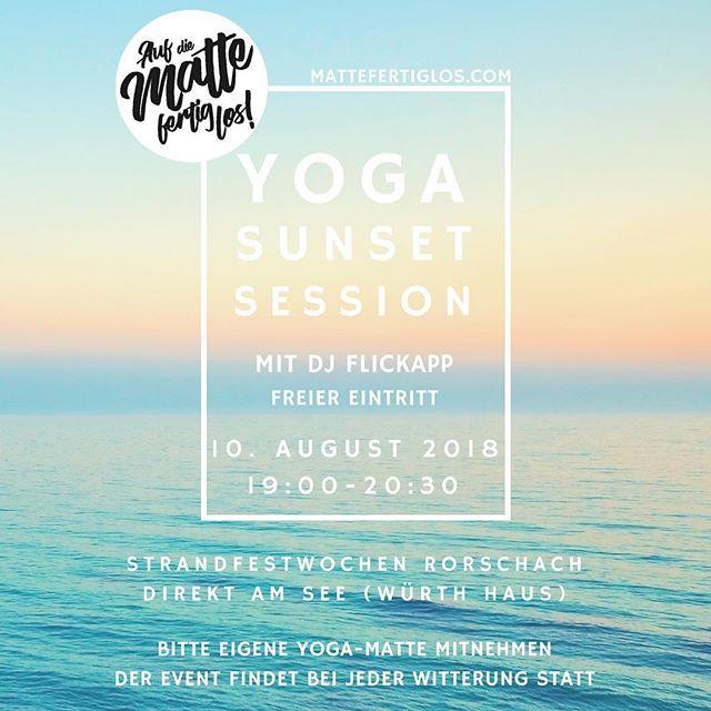 Sei am 10. August dabei! Von 19.00-20.30 Uhr findet unsere Sunset Yoga Session an den Strandfestwochen in Rorschach statt. Mehr Infos findest du im Link in unserer Bio. 🧘♀️🌅