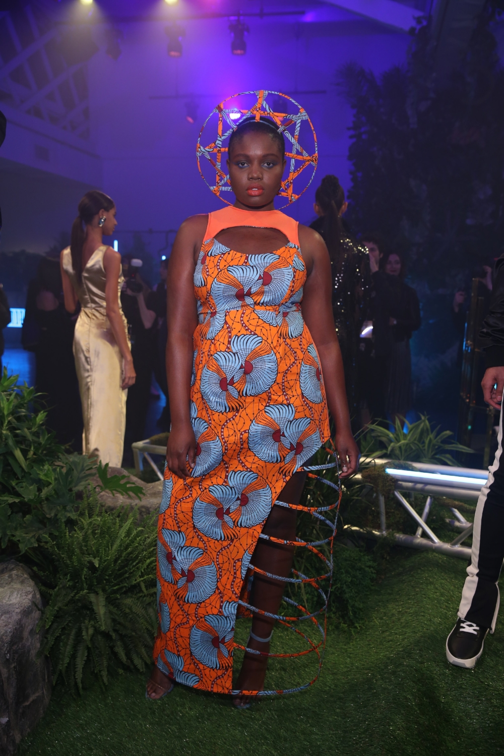 Pictured: Tash Ncube in Black Panther-Inspired x Chromat Look