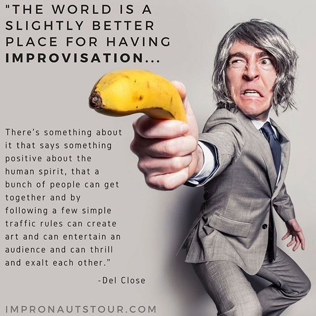 👌🏻👌🏽👌🏿 #truthfultuesday #improv #comedy #charity #quote #british @impronauts #laughteristhebestmedicine #impronautstour #nonprofit #improvisation #theatre #theater #performingarts #perform #delclose #fundraiser #florida #summer2018 #july2018