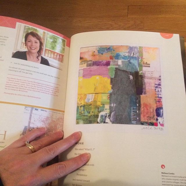"""Received my copy of The Perpetual You magazine today!  This is the 2nd publication which has shared my art 😊. Woot woot! Please check out this issue online - it's made by & for soulful + authentic women - it has great articles & beautiful photos. And...if you want to know more about my piece of art here, visit the """"news"""" page of my website. Psst...this artwork currently for sale too! . . . #mixedmediaartist #ohioartist #columbuscreates #contemporarycollage #artforthehome #calledtobecreative #creativepreneur #creativityfound #colorlovers #livecolorfully #myartwork #whativebeenupto #artmatters #collage_art #buyoriginalart #columbusmakesart #midwestartist #gratefulday #inmywinbook #colorfulart #mondayhappiness"""