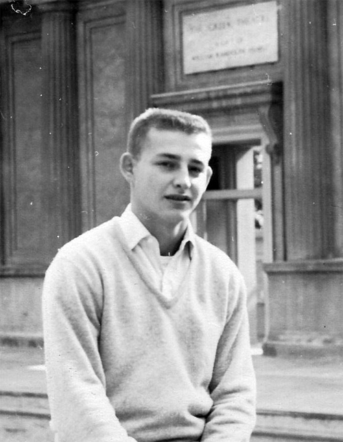 Here's Kurt as a sophomore; he decided to fulfill his two-year military service in the Naval Reserve after his sophomore year, and then return to the university to complete his degree.