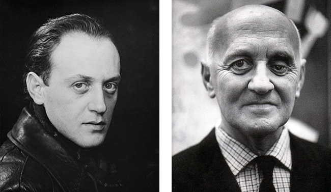 Left to right: Victor Brauner by Man Ray; Brauner in the 1960s