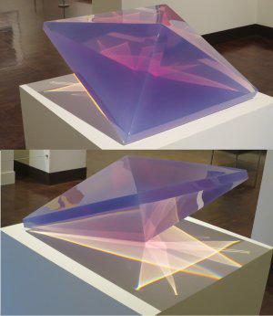 """Double Pyramid"" by Dewain Valentine"