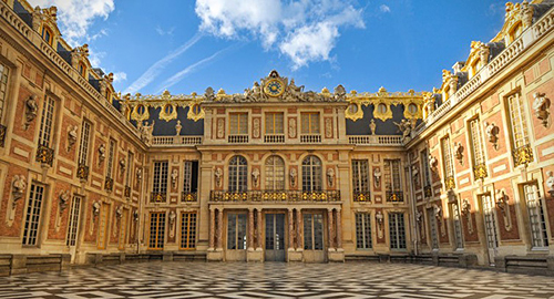 The Palace of Versailles, the royal palace of Louis XIV.