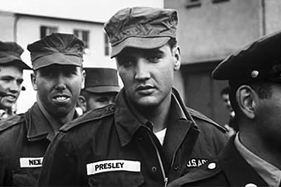 Elvis in the U.S. Army in 1958.