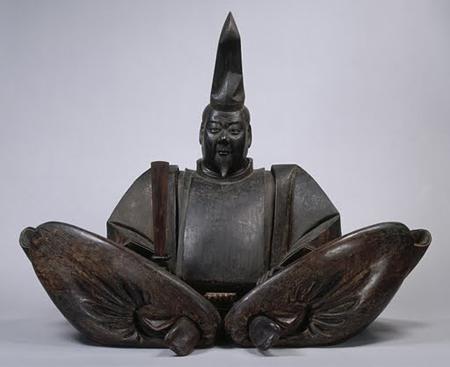 """Portrait of Minamoto-no Yoritomo"" Kamakura Period, 13th Cen., poly-chromed wood."