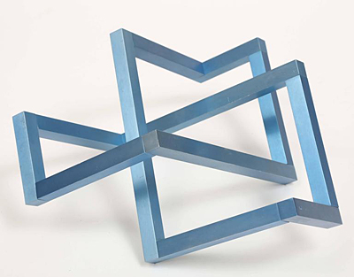 """Interlocking Squares"" by sculptor Forrest Myers."