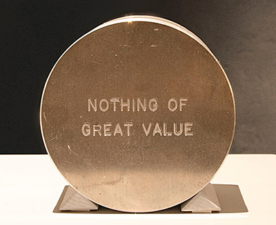"""Nothing of Great Value""- A time-capsule by Steve Kaltenbach."