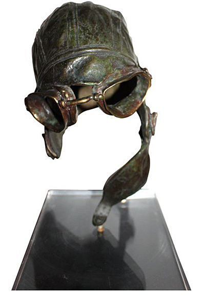 WWI aviator sculpture by John Battenberg.
