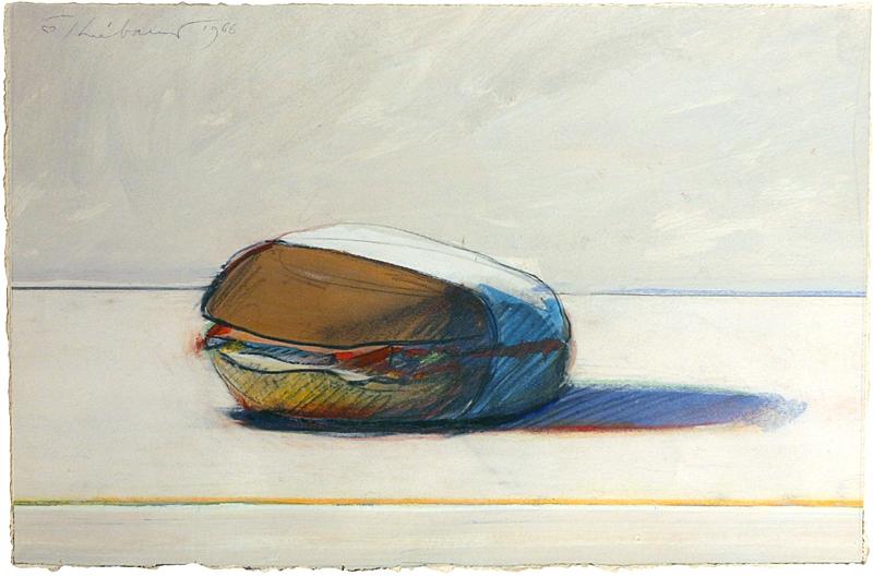 A 1966 work by artist Wayne Theibaud.