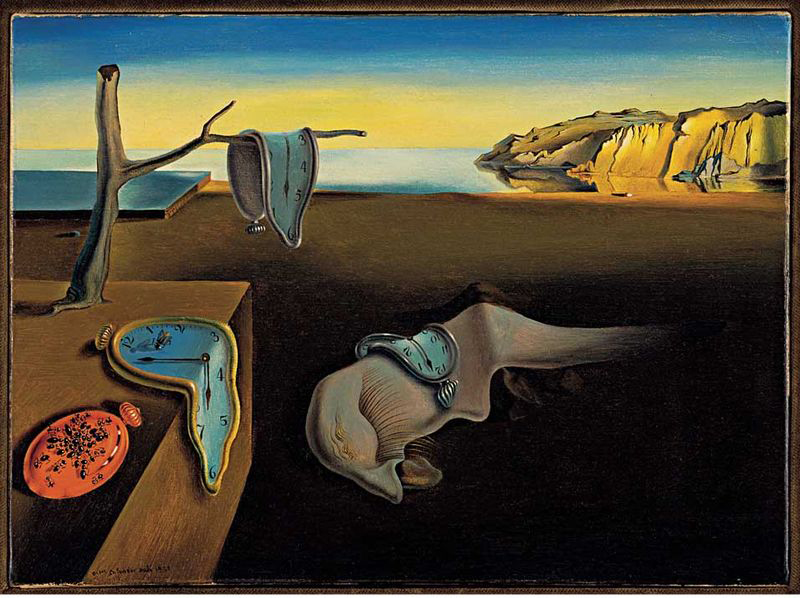 Dali's  The Persistence of Memory.