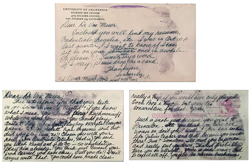"""Annette's letters were sometimes soaked in """"cheap, pungent perfume,"""" which caused the ink to bleed."""