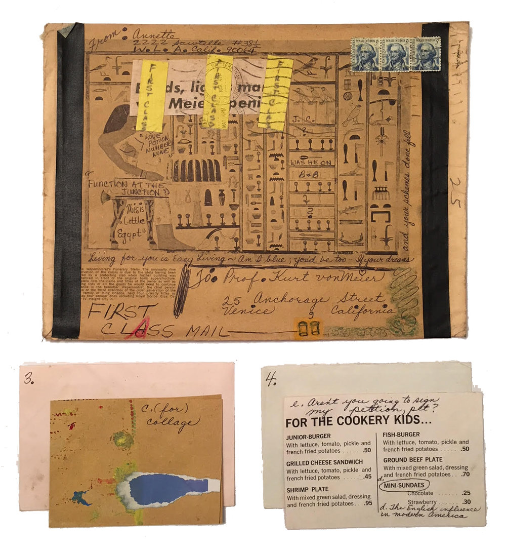 Another example of Annette's elaborate, ornate, symbolic and encrypted communication sent to Kurt in 1967.