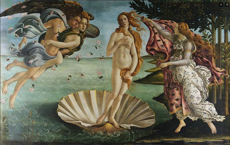 Botticelli's  The Birth of Venus .