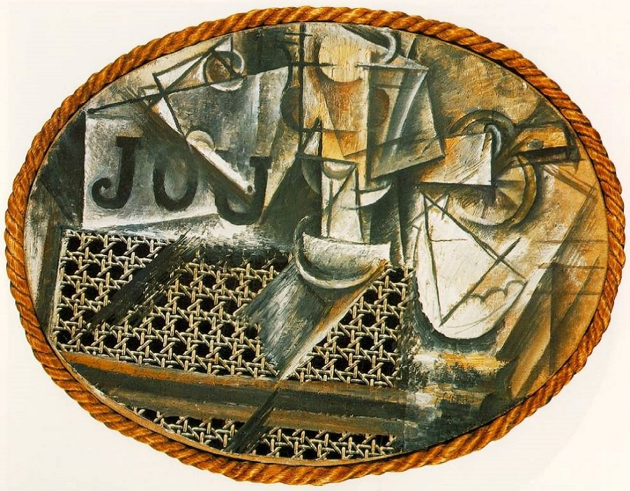 Picasso's  Still Life with Chair Caning , 1912