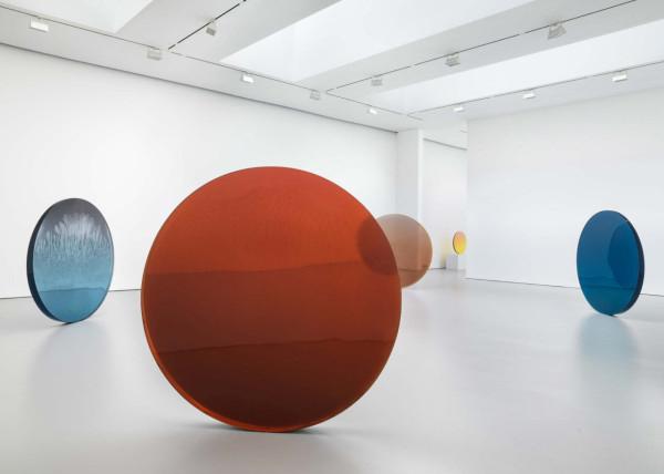 Discs by sculptor Dewain Valentine