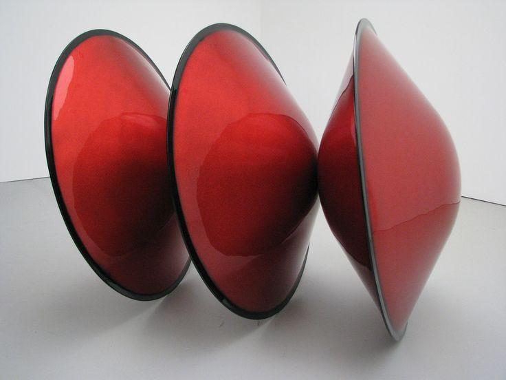 Fiberglas sculptures by DeWain Valentine