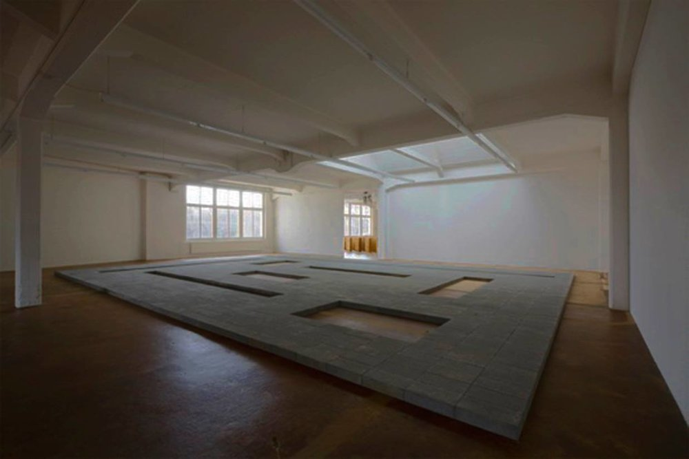 Carl Andre's room-sized sculpture  Cuts