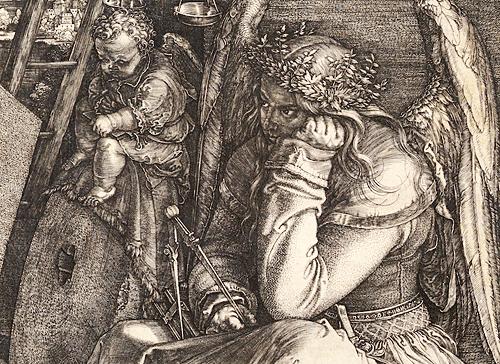 A detail from Albrecht Durer's engraving, Melancholia