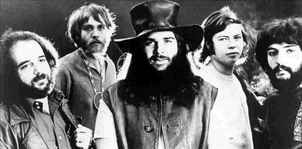 Left to right: Canned Heat's Larry Taylor, Henry Vestine, Bob Hite, Alan  Wilson and Fito de la Parra
