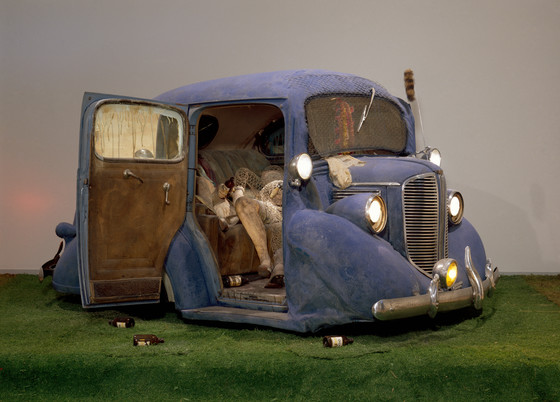 Backseat Dodge '38 , by Ed Keinholz generated considerable controversy when exhibited in LA in 1966.