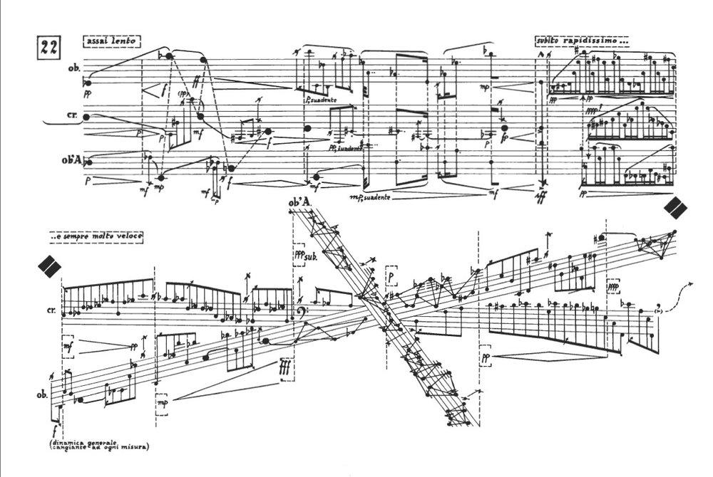 A musical score by Karlheinz Stockhausen