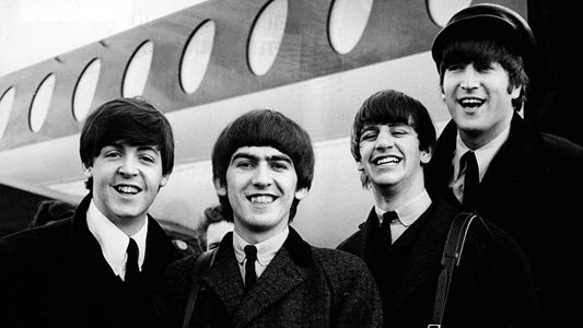The Beatles in 1964 during their world tour