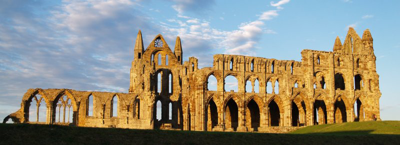 The remains of Whitby Abbey, location of the Synod of Whitby in 665 A.D.