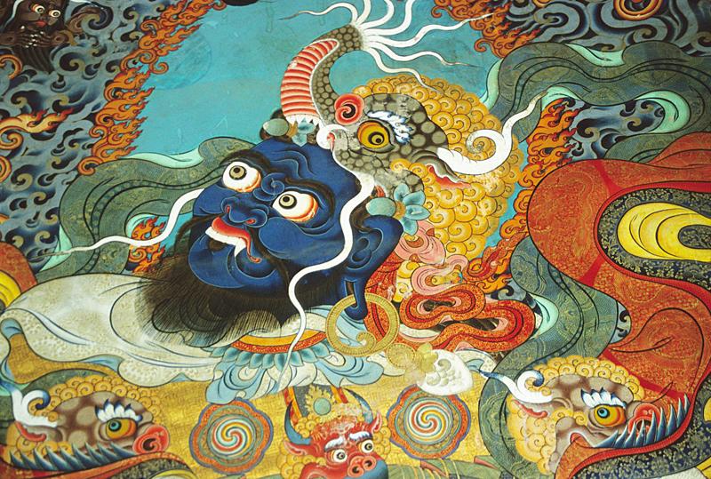 Lokapala Virudhaka, one of the Tibetan Buddhist protectors of the directions