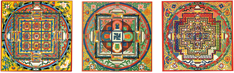 Bon mandalas from the Tritan Norbutse collection