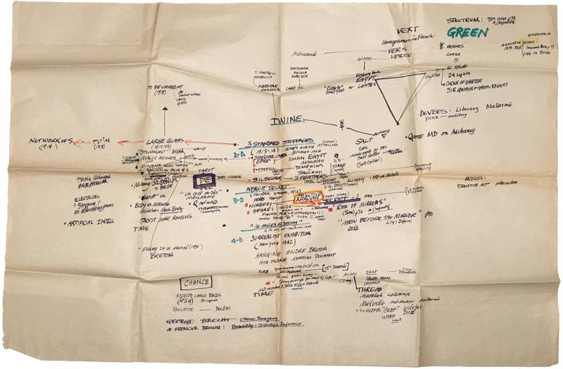 The full sheet of paper, unfolded.