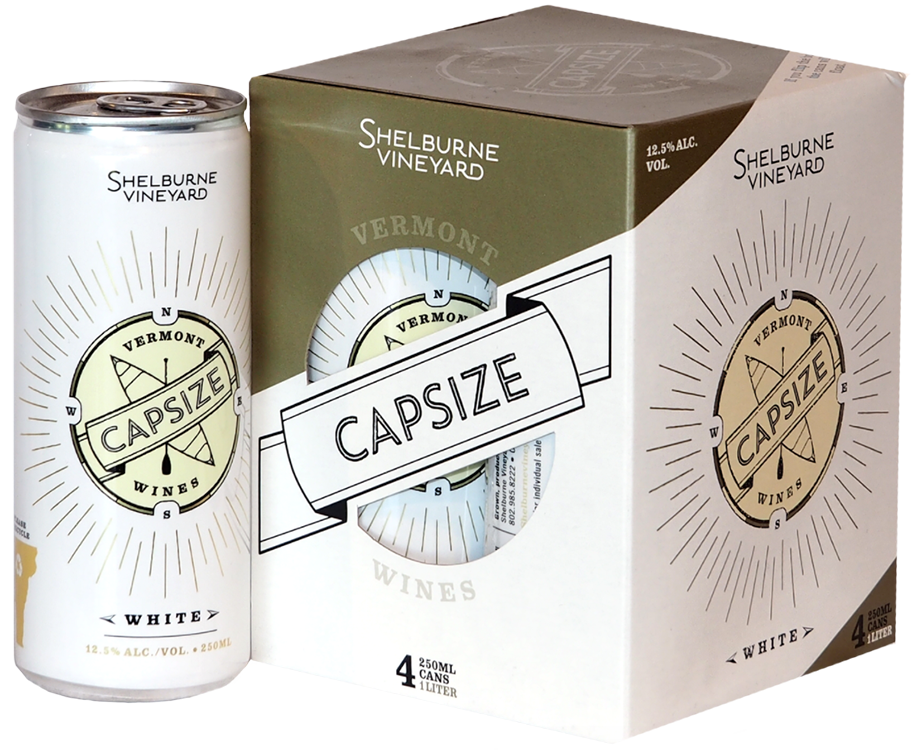 Capsize: White (4 8.5 oz (250 mL) cans)12.5% ABV - The wine is made of two grapes grown in the vineyard: Louise Swenson and LaCrescent. It works out to 1 liter per pack, which is the equivalent to 1 ⅓ bottles. From a cost standpoint, you're spending less money on 4 cans than 1 bottle while getting ⅓ of a bottle more. Just that's reason enough to try it! Furthermore, it's canned wine from an award-winning local vineyard.