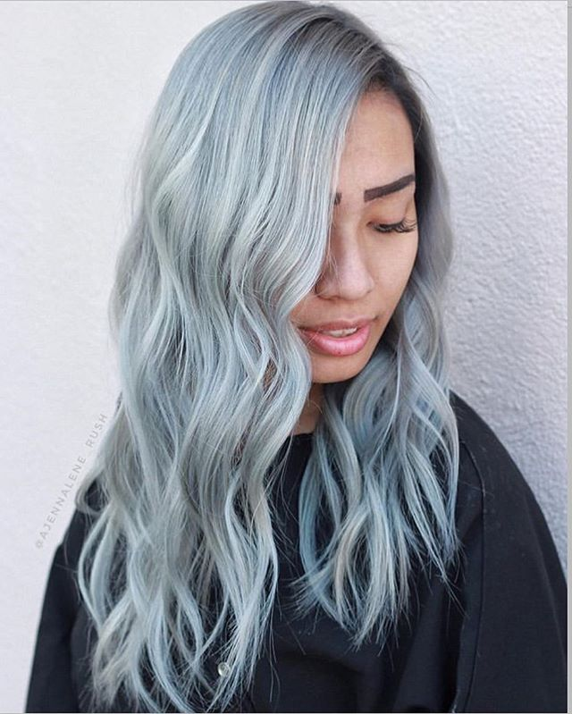 Smoky cool by local #BayArea stylist @ajennalene_rush using @schwarzkopfpro ❄️ ❄️ ❄️