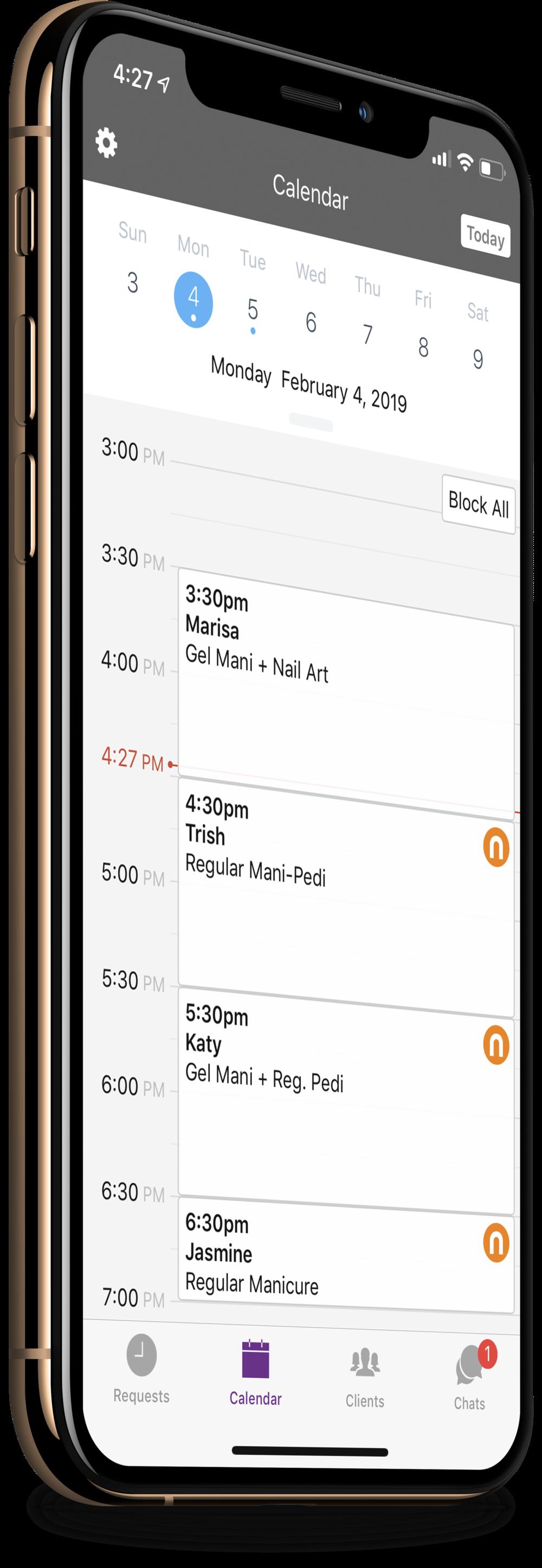 RSVMe Business App Calendar Left.png