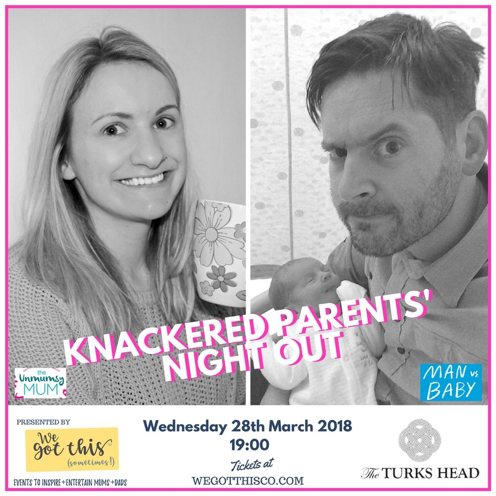 The Unmumsy Mum x Man vs Baby - Meet Sunday Times best sellers Sarah Turner and Matt Coyne, as they chat about all things parenting - Twickenham, what a treat!