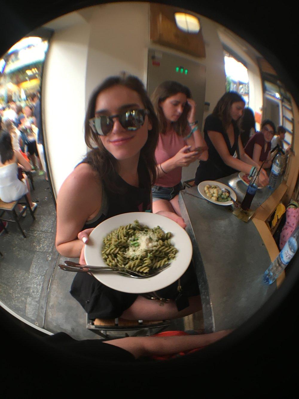 Me at Pasta Basta