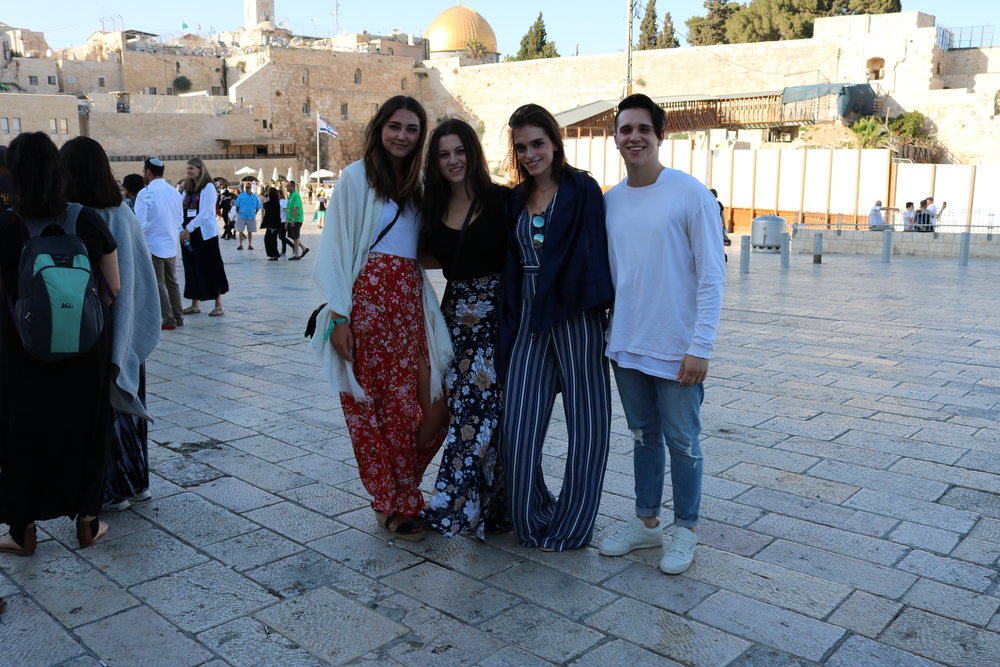Us at the Western Wall on Shabbat.