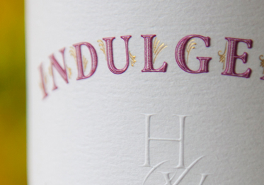 Induldge Wine Label Design