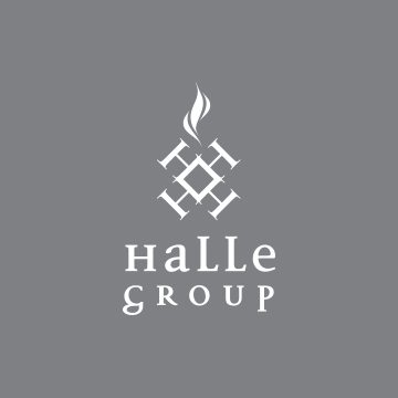 Halle Group Logo Design