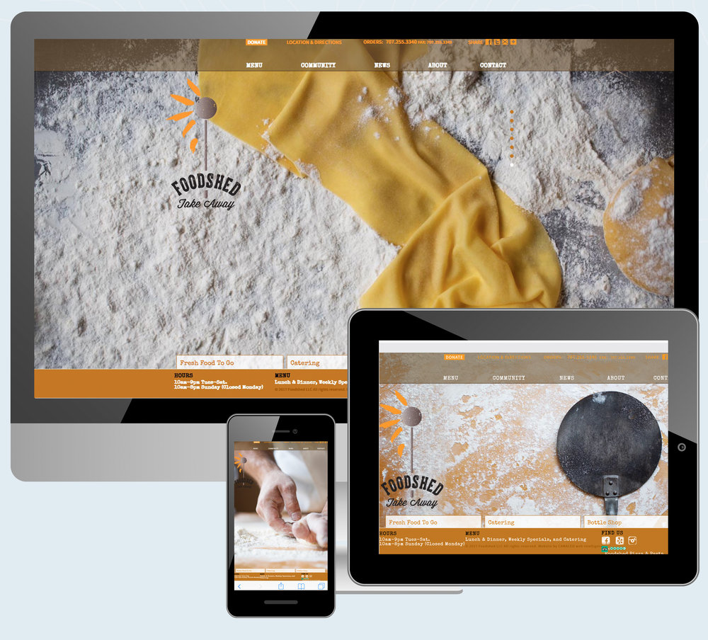 Foodshed Take Away Website Design