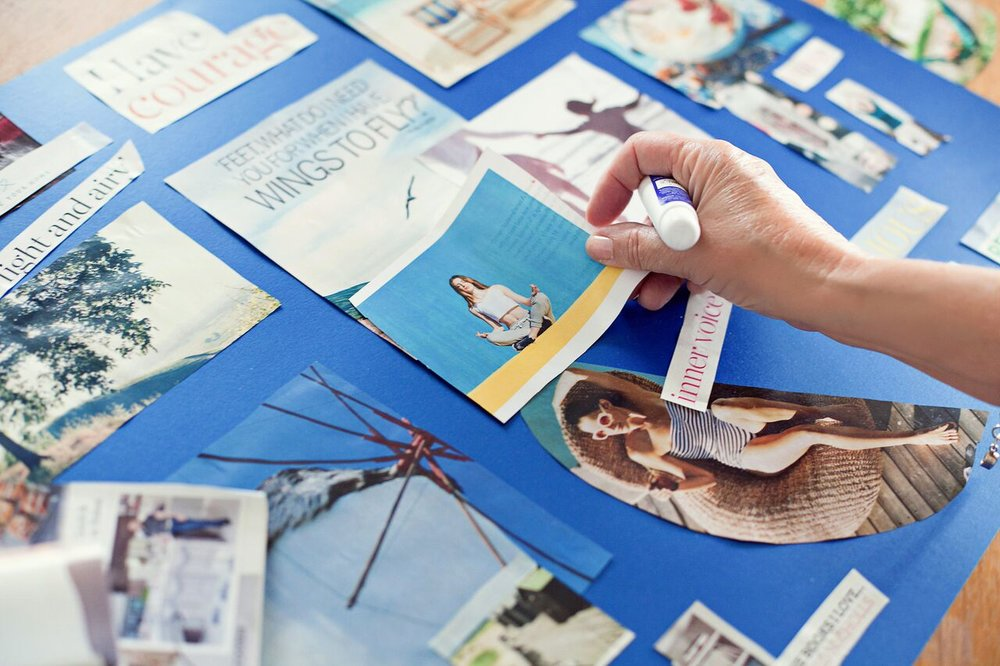Vision Board Your Future - Creating your vision board will help you get clear on what you actually yearn for in your life. Intuitive and fun, your vision board opens new avenues for exploration in your career or in designing new ways of living and working. With my free guide to creating your inspiring Vision Board, you'll see future possibilities and important themes unfold before your very eyes!