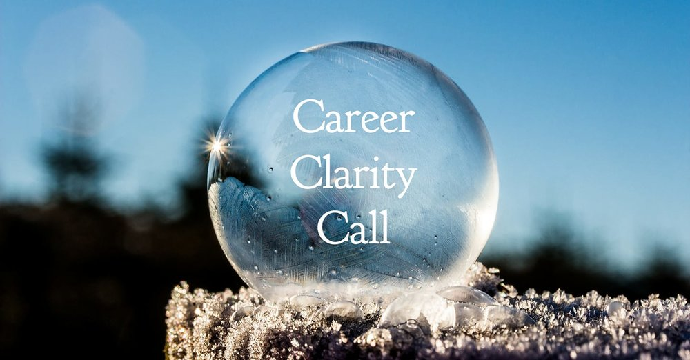 Career Clarity Call - When you have a career decision to make and need an impartial coach to explore what you really want and need in your life and career right now, this 60-minute call will move you from confusion and inertia to clarity and energised momentum. With a pre-session focus questionnaire and a follow-up action plan, you'll be ready to get moving with confidence and purpose!